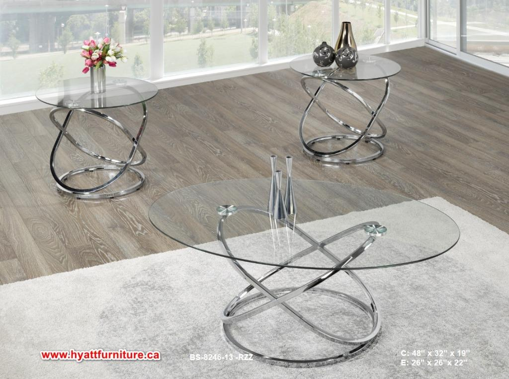 Brand new designed Glass Top 3pcs Coffee Table set only $398