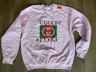 Brand new: pink bootleg Gucci sweatshirt - L