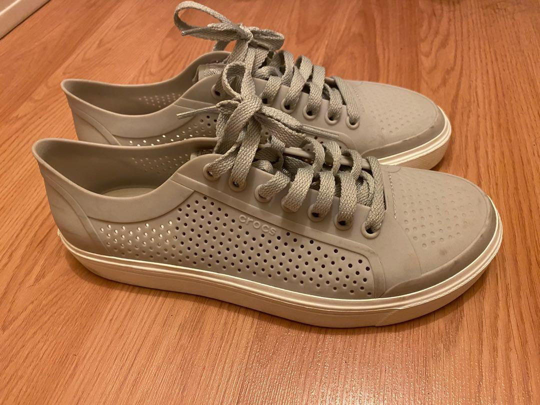 GREY CROCS RUNNERS/SNEAKERS
