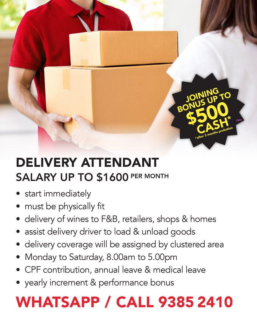 DELIVERY ATTENDANT