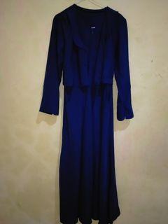 Dress panjang, warna navy