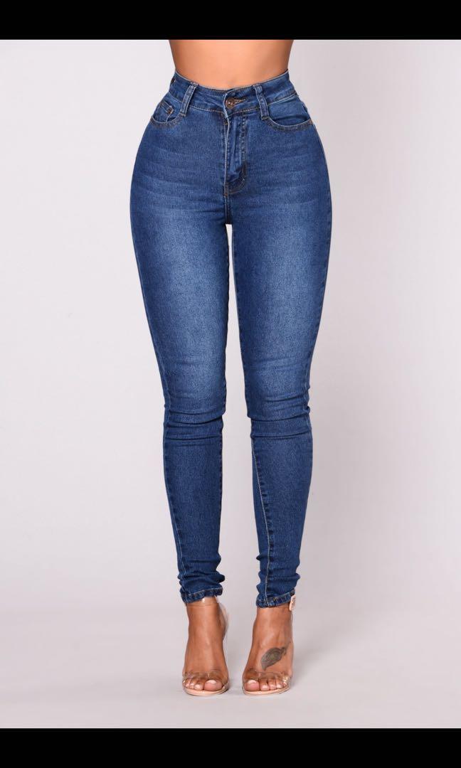 Fashionnova High Waist Denim Jeans - Medium Wash