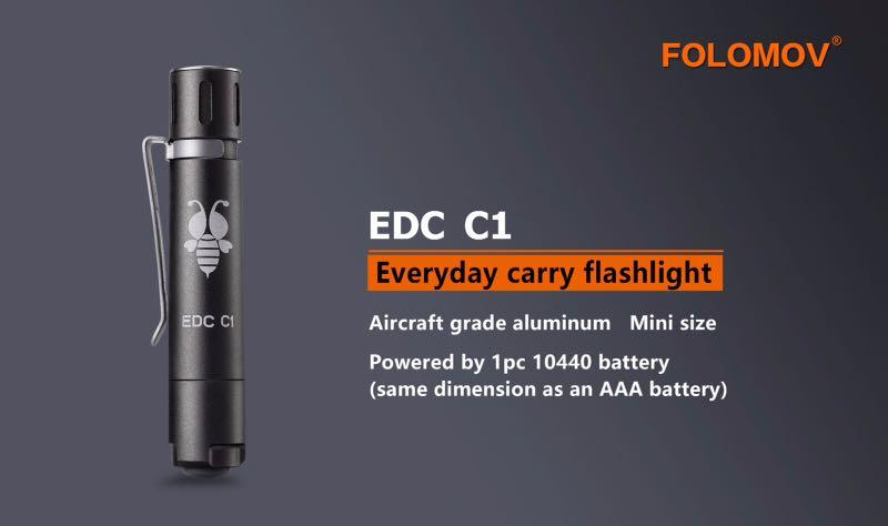 FOLOMOV C1 EDC FLASHLIGHT GRAY 09176652906
