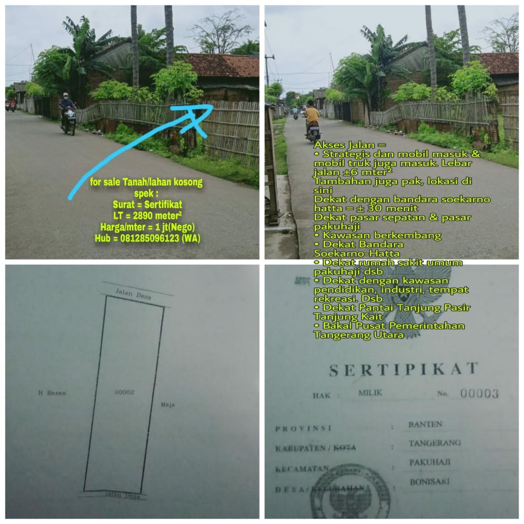 For Sale Tanah / Lahan Sertifikat