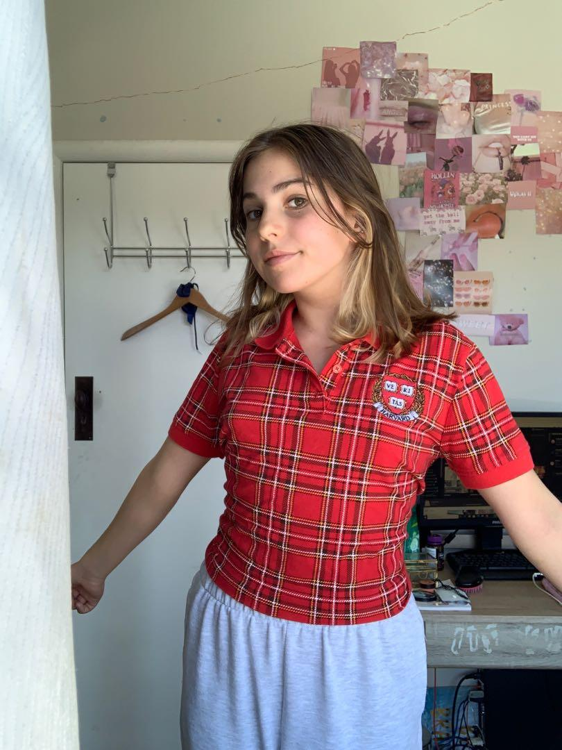 forever 21 harvard cropped polo