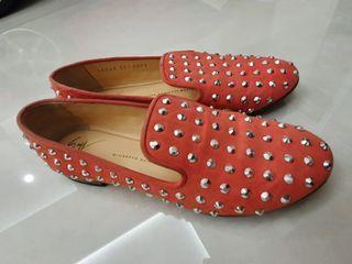 Giuseppe zanotti flat loafer spike studded shoes