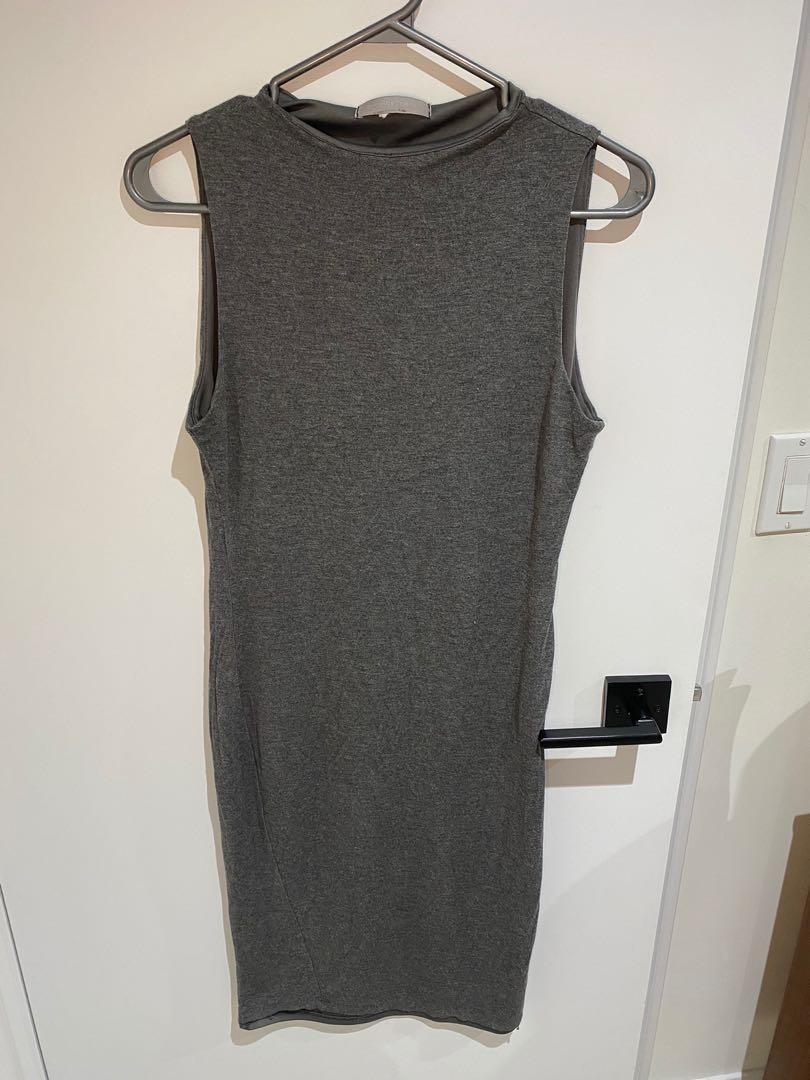 Grey shift dress women's size small