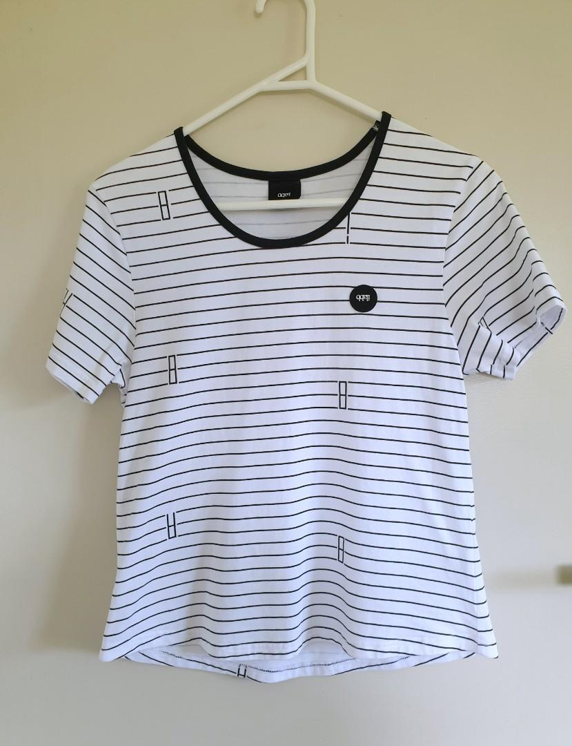 Ilabb white stripe top