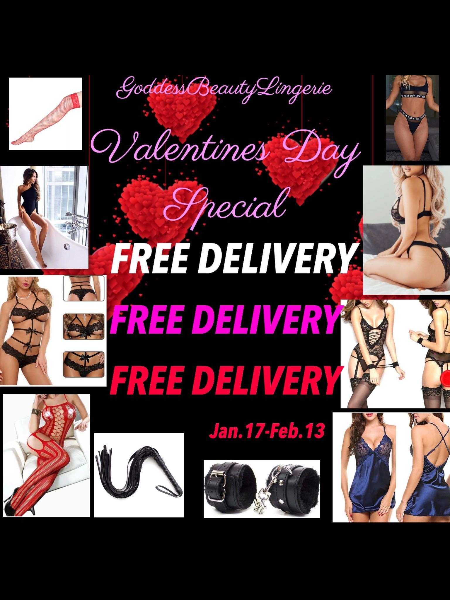 Lingeries Bodysuits whips handcuffs Valentine's Day Red Black Pink
