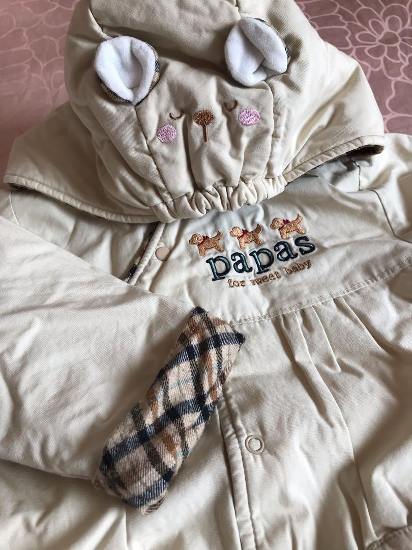 [papas gift]嬰兒冬季兔裝