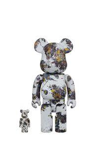 [In Stock] BE@RBRICK x Jackson Pollock Studio (Splash) 400%&100% set bearbrick