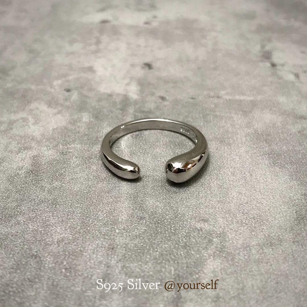 S925 Silver丨簡約個性 水滴光面銀戒 銀戒指 銀指環 時尚配件 輕珠寶