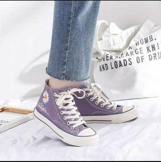 sneaker lilac daisy high top size 37