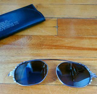 Vintage 1990s Art Deco Clip-On Sunglasses