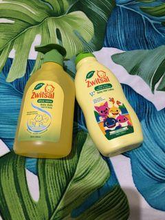 Zwitsal baby bath & hair lotion (NEW) Free baby bib