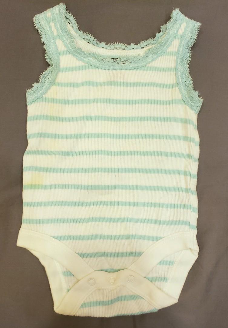 0-3個月嬰兒包屁衣 Gap藍色細肩帶