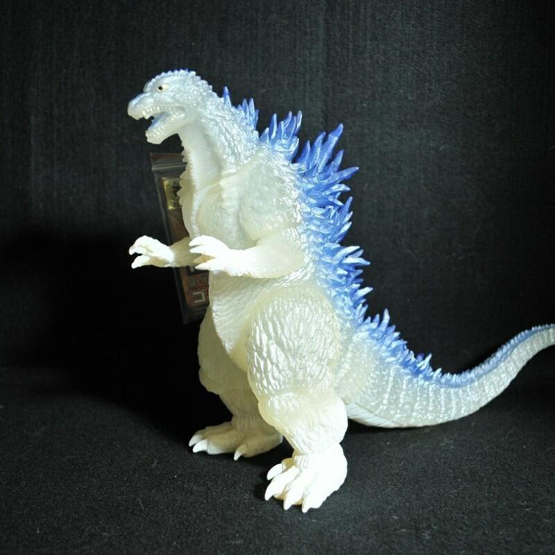 【怪獸天團】2003劇場限定 哥吉拉 白透藍鰭 軟膠