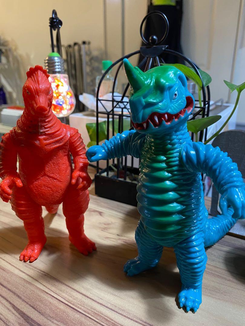 奧特曼/超人力霸王/怪獸500/怪獸老膠日製怪獸/阿波拉斯&巴尼拉