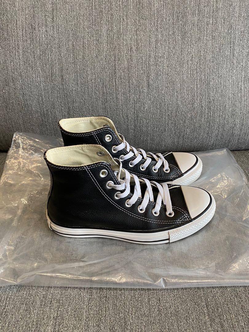 二手少穿 Converse ALL STAR 基本款 黑色皮面 23cm