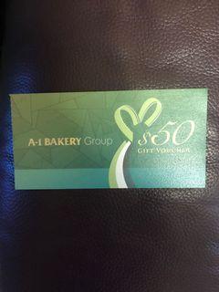 A1 Bakery $50 coupon