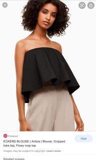 Aritzia babaton eckerd blouse tube top black size small