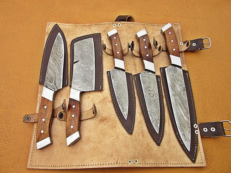 Cutom HandMade Demascuss Chef Set