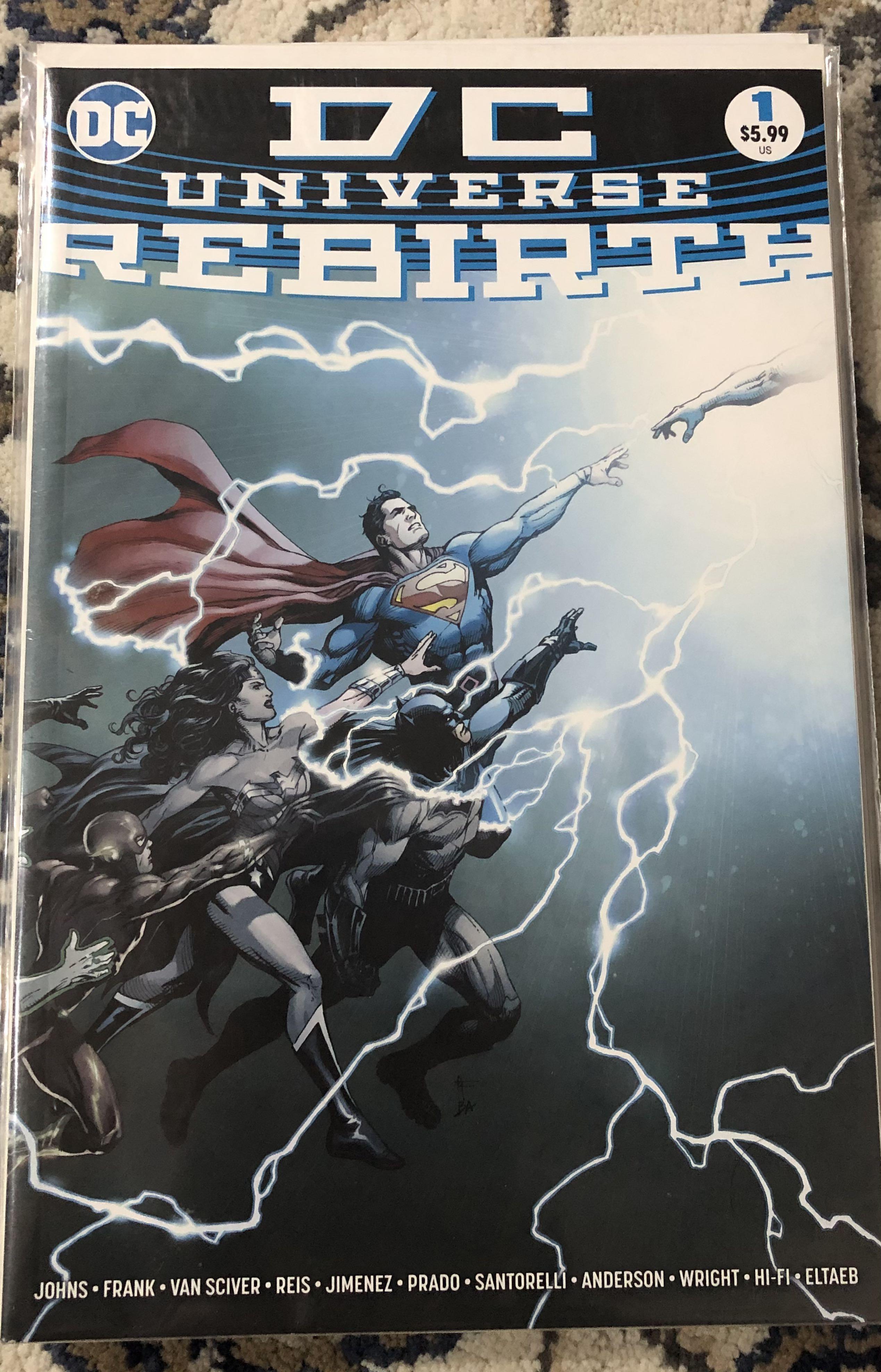 Dc Universe Rebirth 1 1st Printing 2016 Dc Comics Start Of Rebirth Books Stationery Comics Manga On Carousell
