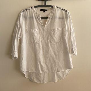 H:CONNECT 肩線設計五分袖上衣