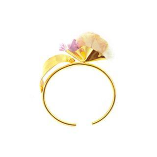 La Orr Sense Bangle - Gold Plated, made with Luxurious Thai Silk