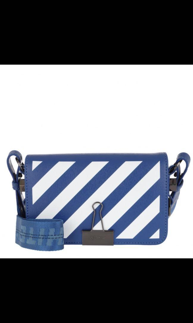 Offwhite Diag mini flap bag blue no color