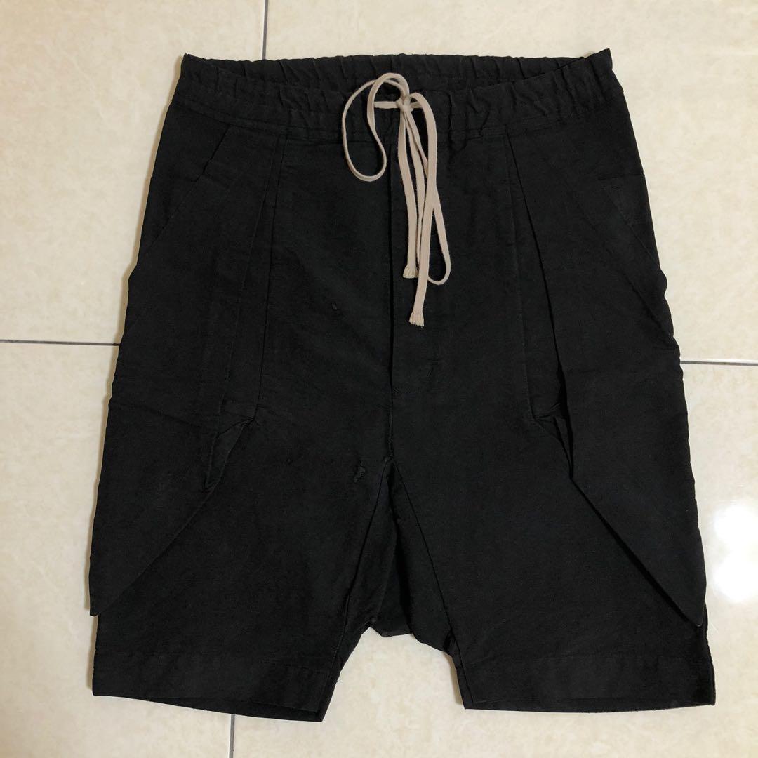 Rick Owens 主線抽繩低檔短褲/正品/六分褲/DRKSHDW/經典單品/OR/暗黑/義大利製