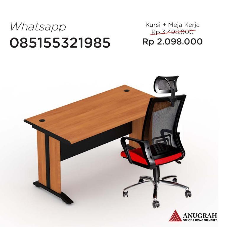 Set meja kerja + kursi direktur