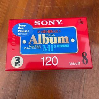 【日本製造】全新未拆封SONY 8厘米Album MP V8帶/V8空白錄影帶(3P6-120MPL)3捲入1組