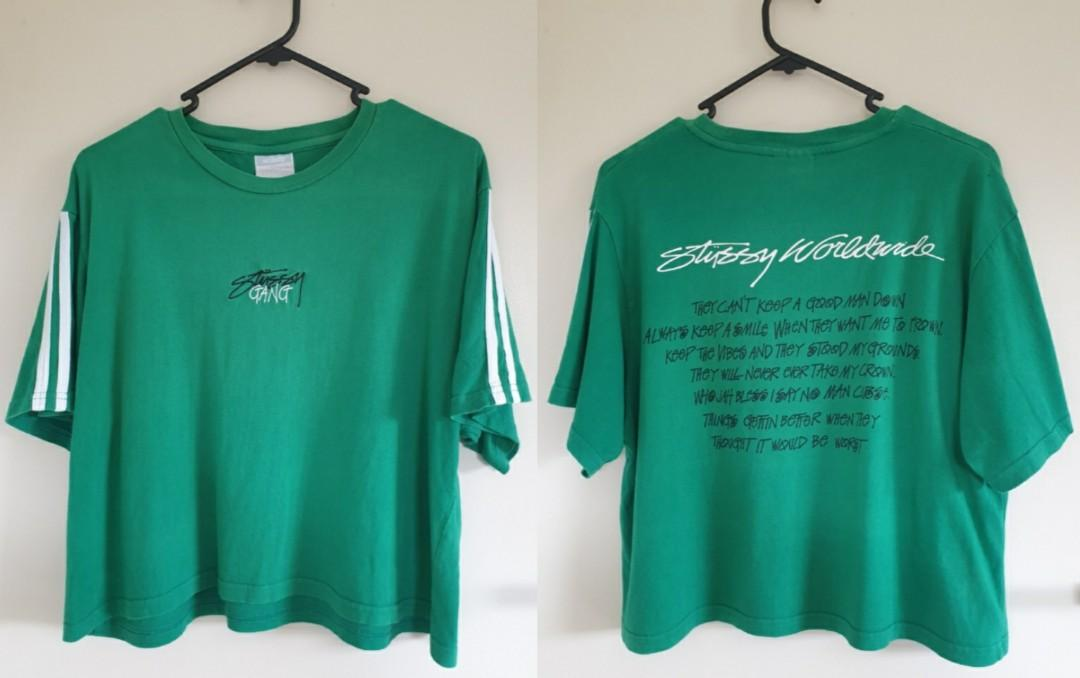 Stussy green top