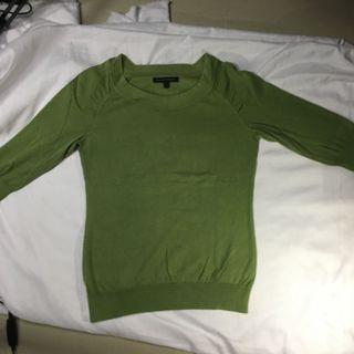 Sweater hoodie basic green army banana republic
