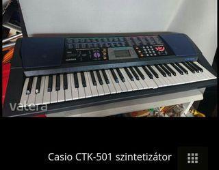 高雄市近全新卡西歐電子琴 CTK-501特價一台 4500元(主機加變電線)