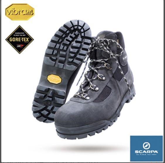 【義大利 SCARPA】GORE-TEX登山鞋 SP60023 (鐵灰 BLACK NERO)