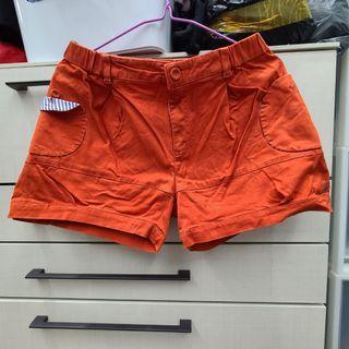 a la sha 橘色短褲
