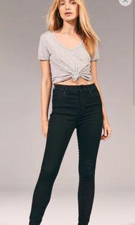 A&F black skinny jeans