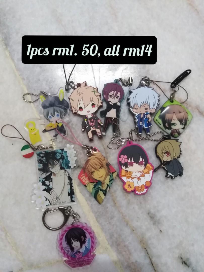 Anime rubber keychain, acrylic keychain, etc (Rm1-Rm2)