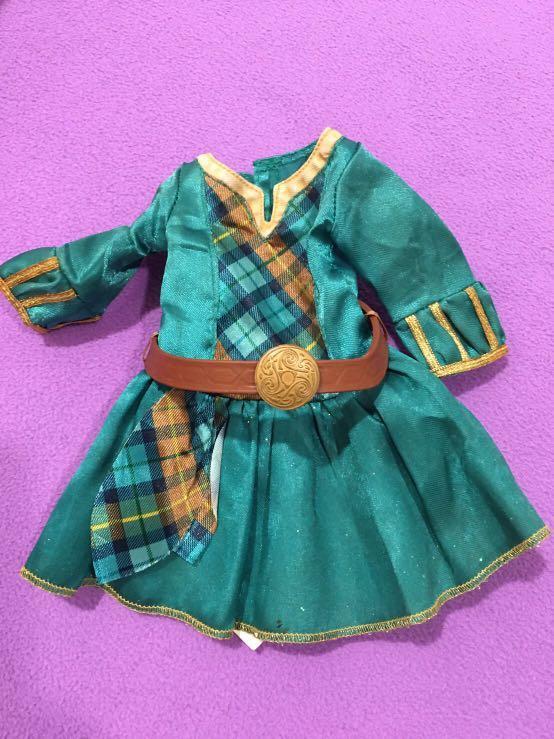 現貨馬上出👌二手迪士尼勇敢傳說brave娃娃上衣衣服裙子