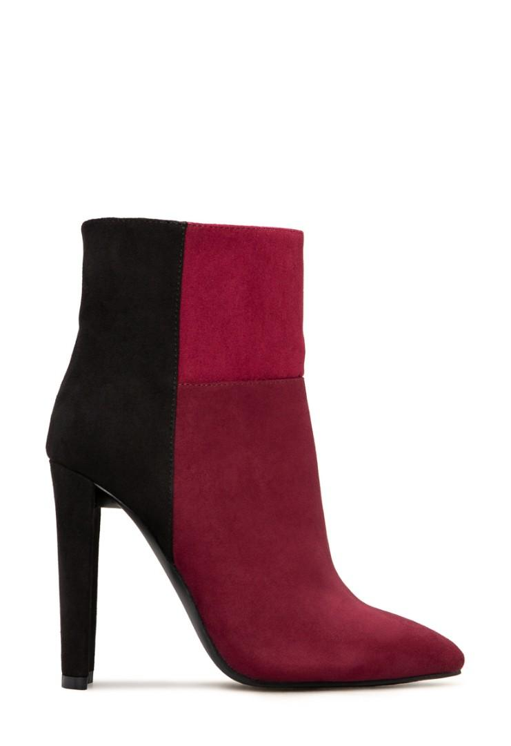Burgundy and Black shoes