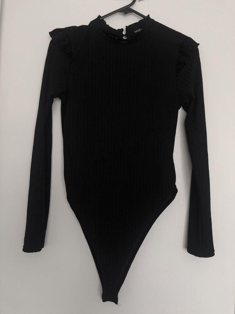 Detail sleeve bodysuit