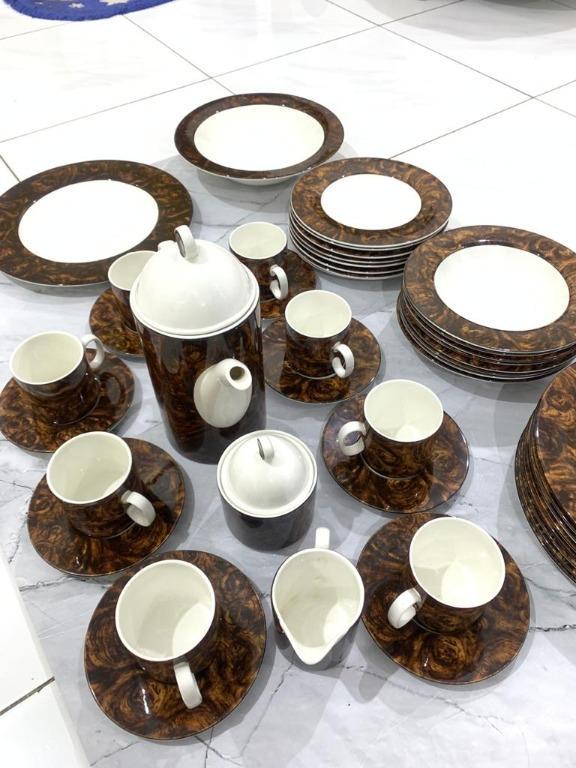 Dinner Set Korea Roma Burlwood Peralatan Makan Porcelain
