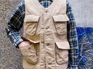 (Sold out售出🔥)日本製Houston BDU Khaki Ripstop Vest厚實抗撕裂 /卡其色M號