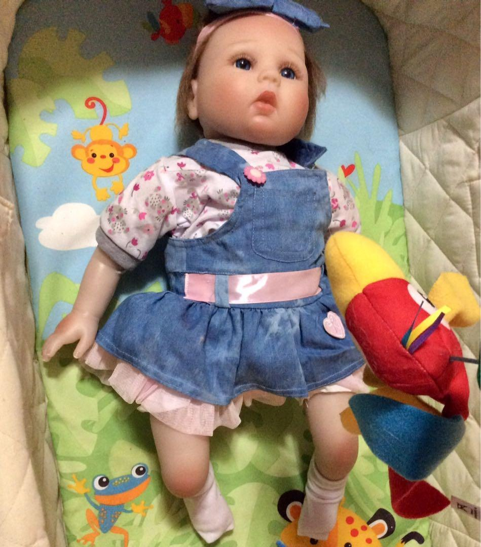 iCradle Lovely Realistic Dolls Girl 22 Inch 55cm Soft Cotton Body Silicone Baby Doll Toddler.