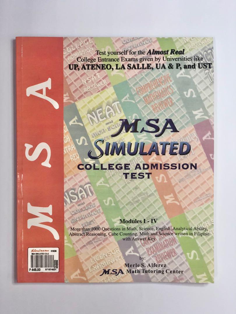 MSA Simulated College Admission Test