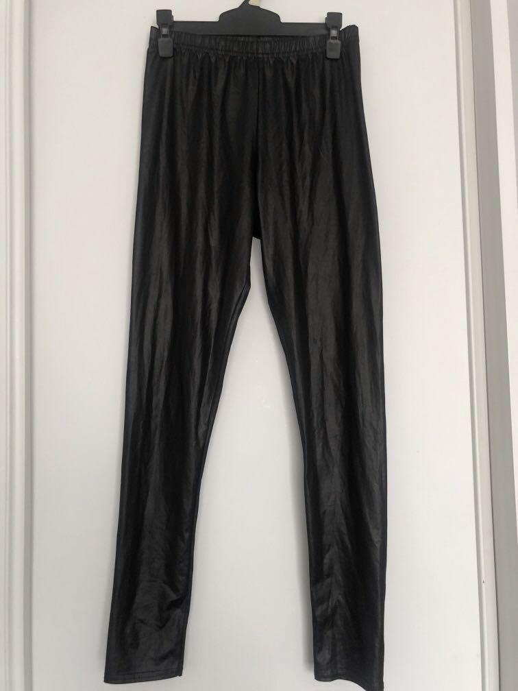 PU Leather look leggings