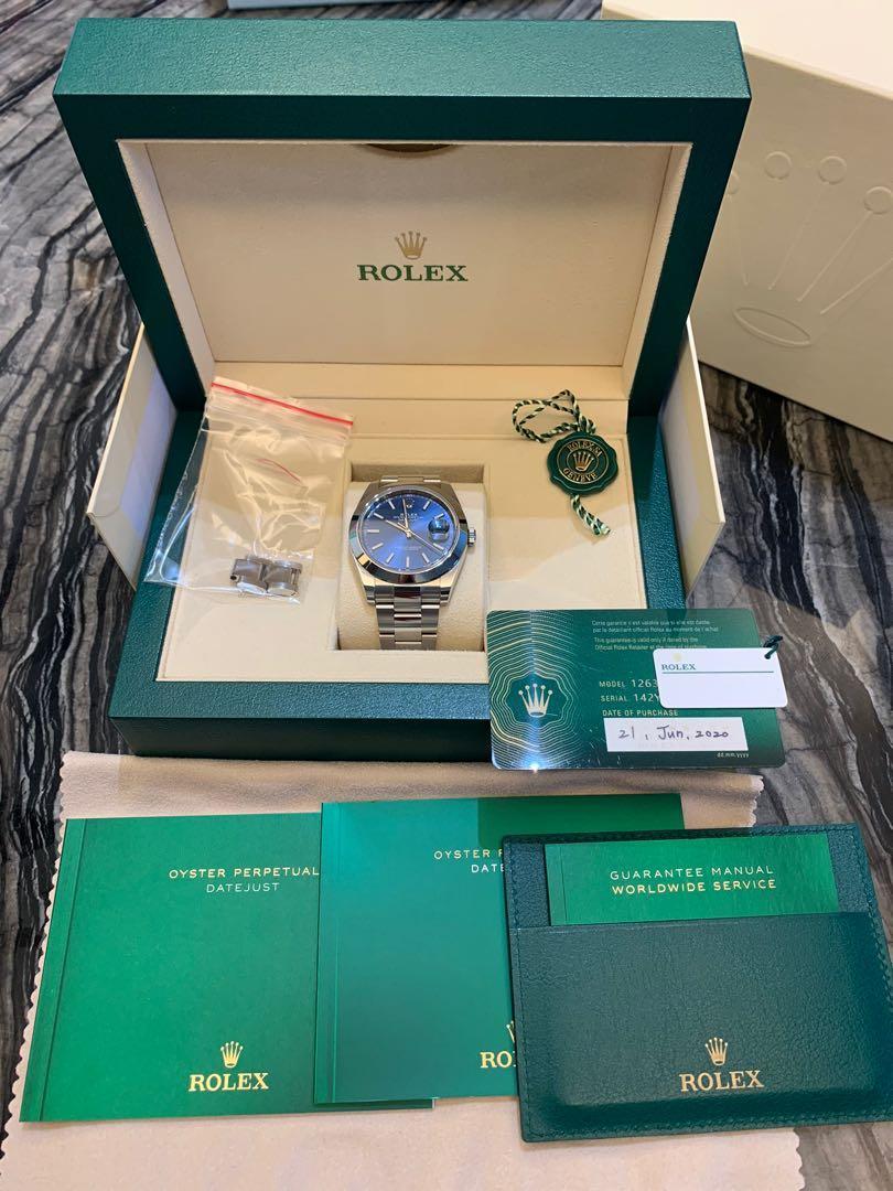 Rolex Datejust 126300 藍面 新式保卡