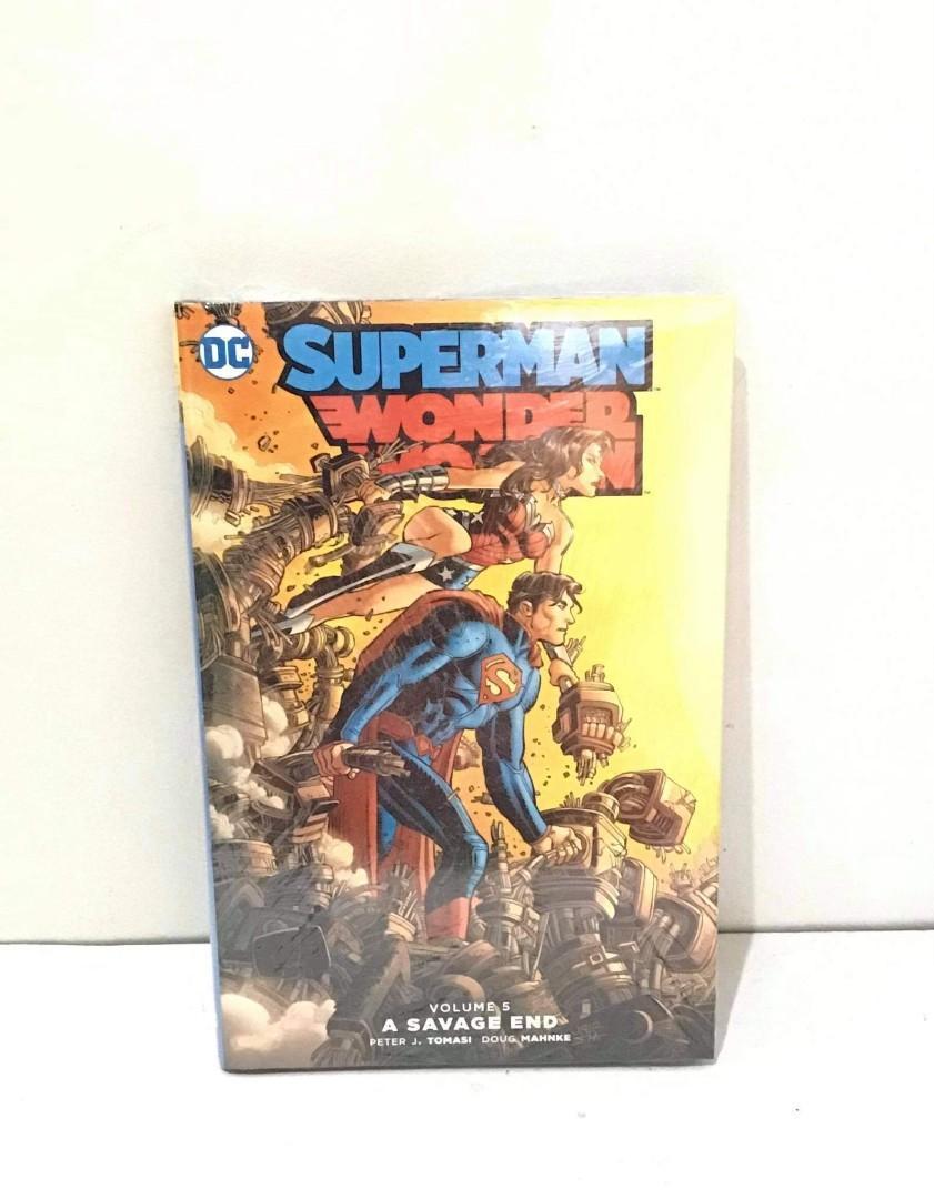 Superman and Wonder Woman Vol. 5 Savage End Hardcover (dc comics)